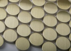 Metal Brass Round Brushed Mosaics