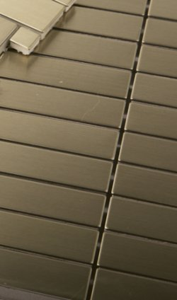 Metal Brass 100x15 Brushed Mosaics