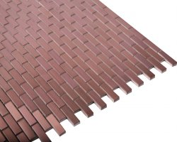 Metal Cooper Mosaic Brushed