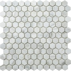 Hexagon Natural Stone Marble Calacatta Gold 25x29 Polished Mosaic