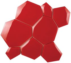 Crystal Mosaic Red Water Cube