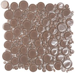 Bubbles Crystal Glass ES48 Glossy Mosaic