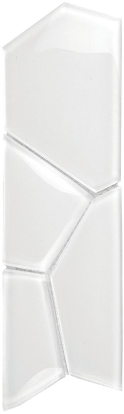 Crystal Mosaic Super White Water Cube Border