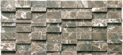 Marble Mosaic Emperador Dark Great Wall