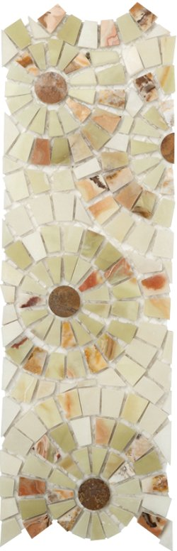 Marble Mosaic Border Joy 01 (Multi Onyx)