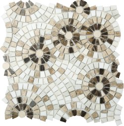 Marble Mosaic Joy 02 (Multi Brown)