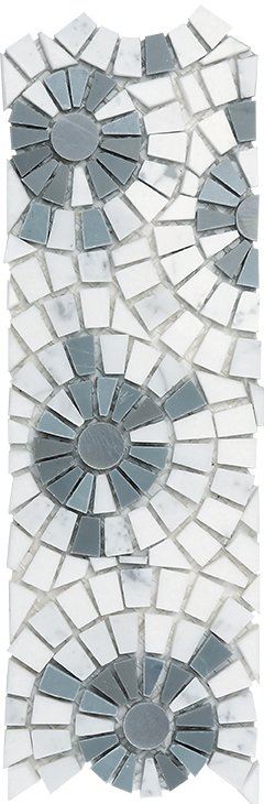 Marble Mosaic Border Joy 03 (Multi Azul)