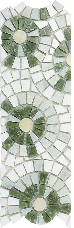 Marble Mosaic Border Joy 05 (Multi Green)