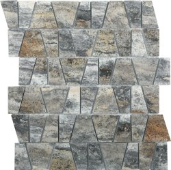 Marble Mosaic Pyramid Silver Castle