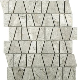 Marble Mosaic Silver Grey Castle