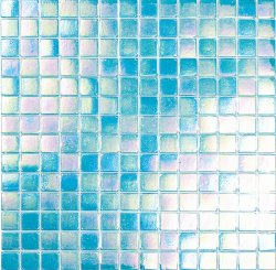 Pool Glass Blue Green 20x20